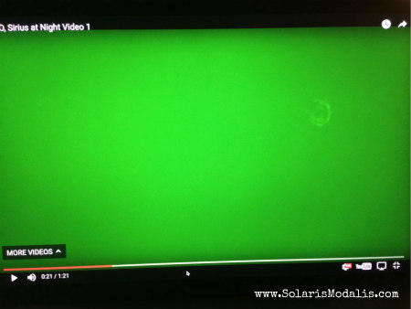 UFO:  Sirius at Night Video 1 with Still Shots