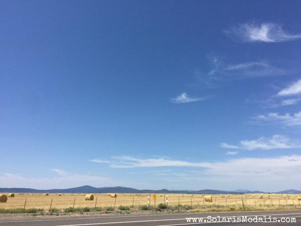 Vulcan over CA farmland