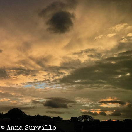 Anna Surwillo Sky over Astoria Queens