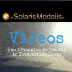 Solaris Modalis on Video: Two Triangle UFOs Revealed by Lightning Storm
