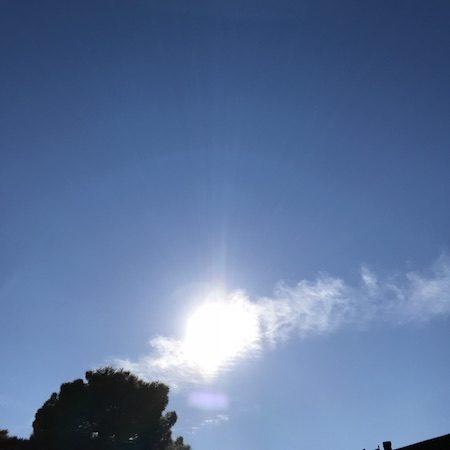 Today's Sun, Solaris Modalis, SolarisModalis, Sun, solar activity, sky, clouds, geometric patterns, energy waves, solar transmissions